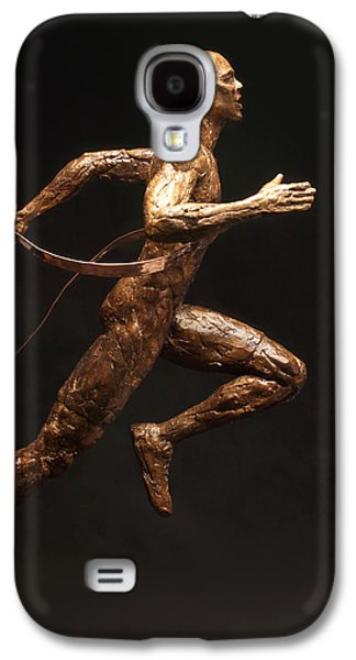 Person Sculptures Galaxy S4 Cases - Olympic Runner Citius Altius Fortius  Galaxy S4 Case by Adam Long