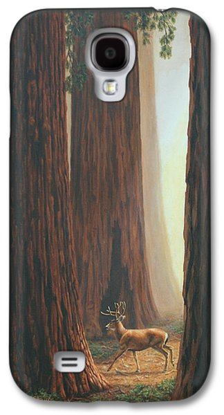 Deer Galaxy S4 Cases - Sequoia Trees - Among the Giants Galaxy S4 Case by Crista Forest