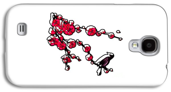 Recently Sold -  - Drawing Galaxy S4 Cases - Cherry Tree Galaxy S4 Case by Anastasiya Malakhova