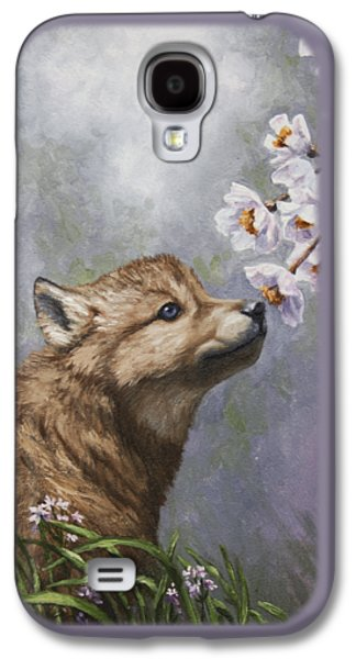 Cherry Tree Galaxy S4 Cases - Wolf Pup - Baby Blossoms Galaxy S4 Case by Crista Forest