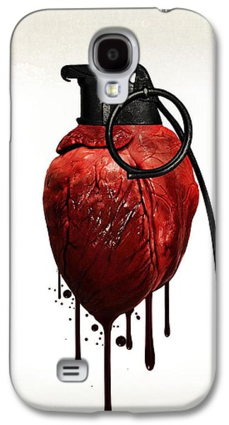 Hearts Galaxy S4 Cases - Heart grenade Galaxy S4 Case by Nicklas Gustafsson