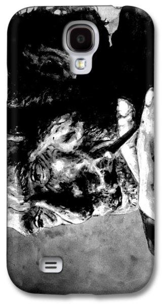 Best Friends Galaxy S4 Cases - Charles Bukowski Galaxy S4 Case by Richard Tito
