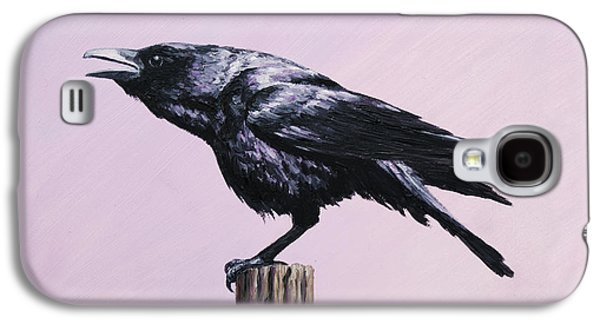 Crows Galaxy S4 Cases - Crow - Sounding Off Galaxy S4 Case by Crista Forest