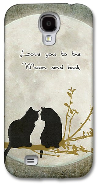 Moon Digital Galaxy S4 Cases - Love you to the moon and back Galaxy S4 Case by Linda Lees