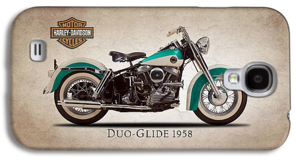 Harley Davidson Galaxy S4 Cases - Harley Davidson Duo-Glide 1958 Galaxy S4 Case by Mark Rogan