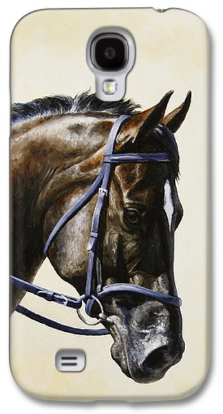 Horseback Galaxy S4 Cases - Dressage Horse - Concentration Galaxy S4 Case by Crista Forest