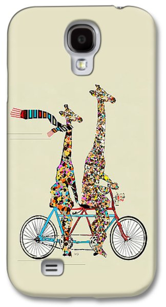Fun Digital Galaxy S4 Cases - Giraffe Days Lets Tandem Galaxy S4 Case by Bri Buckley