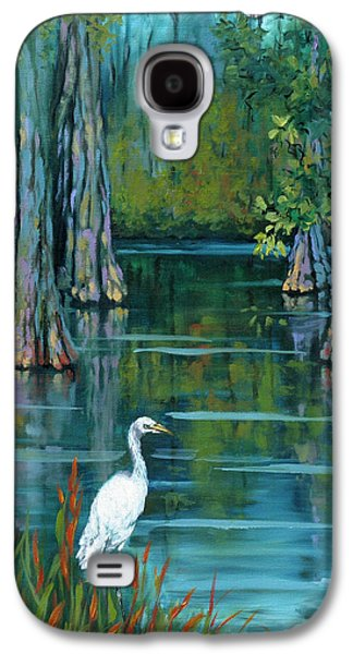 Cypress Swamp Galaxy S4 Cases - The Fisherman Galaxy S4 Case by Dianne Parks