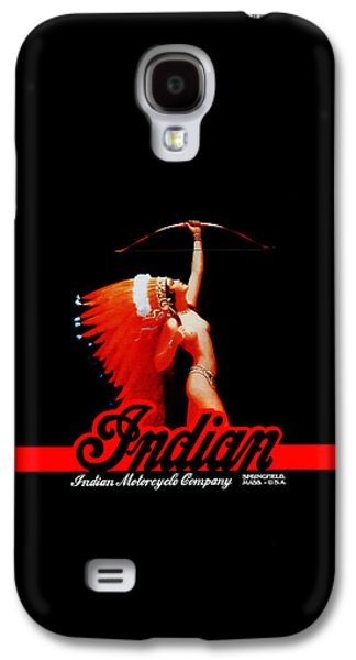Greeting Card Photographs Galaxy S4 Cases - The Indian Motorcycle Company Galaxy S4 Case by Mark Rogan