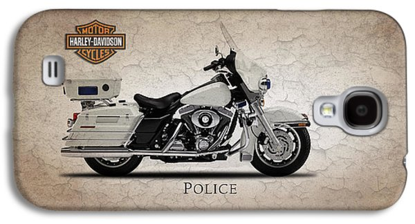 Harley Davidson Galaxy S4 Cases - Harley Davidson Police Electra Glide Galaxy S4 Case by Mark Rogan