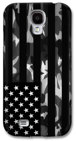 American Flags Galaxy S4 Cases - American Camouflage Galaxy S4 Case by Nicklas Gustafsson