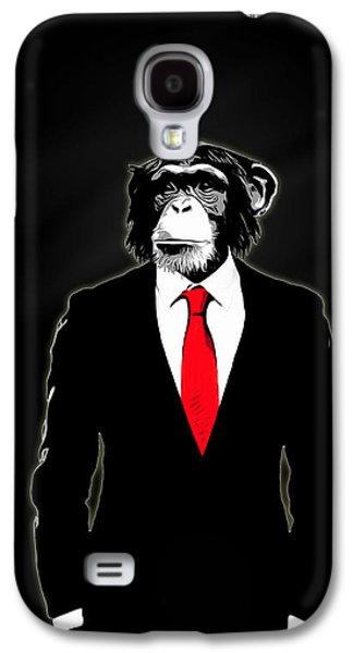 Ties Galaxy S4 Cases - Domesticated Monkey Galaxy S4 Case by Nicklas Gustafsson