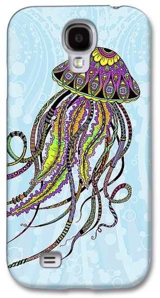 Trippy Drawings Galaxy S4 Cases - Electric Jellyfish Galaxy S4 Case by Tammy Wetzel