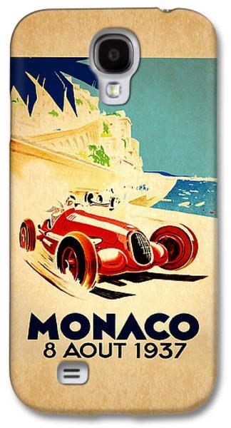 Sports Photographs Galaxy S4 Cases - Monaco 1937 Galaxy S4 Case by Mark Rogan