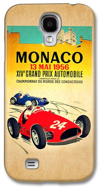 Sports Photographs Galaxy S4 Cases - Monaco 1956 Galaxy S4 Case by Mark Rogan