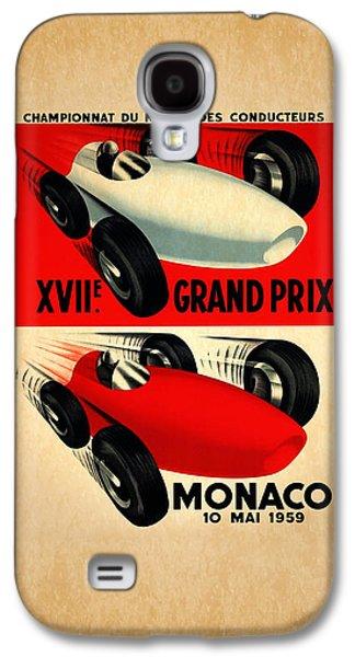 Sports Photographs Galaxy S4 Cases - Monaco 1959 Galaxy S4 Case by Mark Rogan