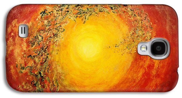 Cosmic Space Paintings Galaxy S4 Cases - Ascending Light Galaxy S4 Case by Tara Thelen - Printscapes