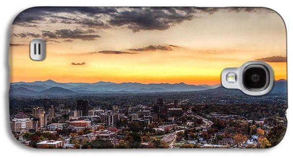 Asheville Galaxy S4 Cases - Asheville From Above Galaxy S4 Case by Walt  Baker