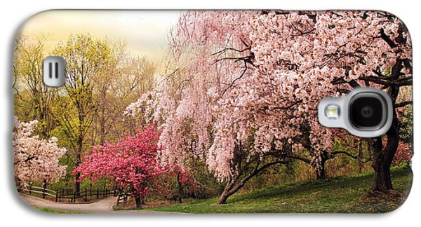 Cherry Blossoms Galaxy S4 Cases - Asian Cherry Grove Galaxy S4 Case by Jessica Jenney