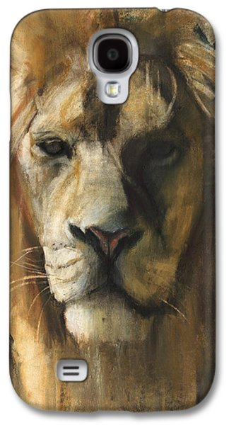 Portraits Pastels Galaxy S4 Cases - Asiatic Lion Galaxy S4 Case by Mark Adlington