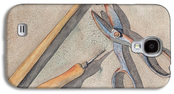 Hammer Paintings Galaxy S4 Cases - Assorted Tools Galaxy S4 Case by Ken Powers
