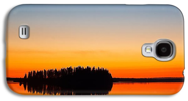 Trees Reflecting In Water Galaxy S4 Cases - Astotin Sunset Galaxy S4 Case by Ian MacDonald