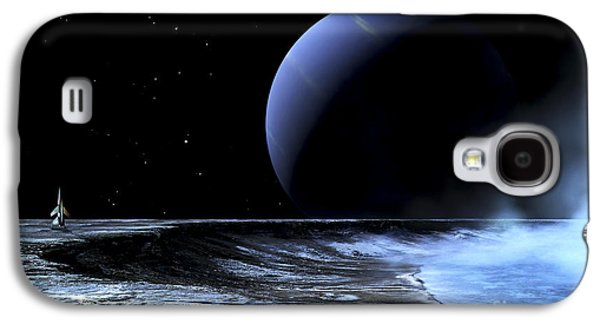 Wandering Star Galaxy S4 Cases - Astronaut Standing On The Edge Galaxy S4 Case by Frank Hettick