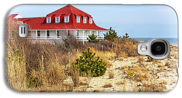 Buildings By The Ocean Galaxy S4 Cases - At Cape May Point Galaxy S4 Case by Carolyn Derstine