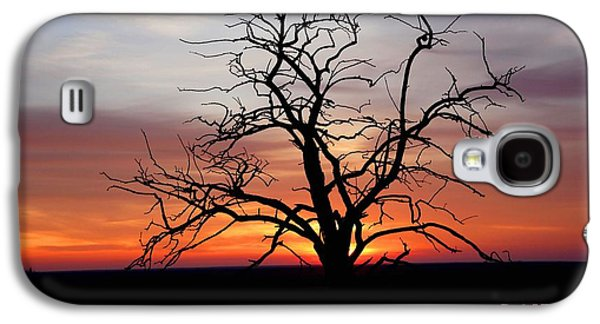 Abstract Digital Paintings Galaxy S4 Cases - At the End of the Day H a Galaxy S4 Case by Gert J Rheeders