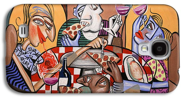 Canvas Wine Prints Galaxy S4 Cases - At The Pizzeria Galaxy S4 Case by Anthony Falbo