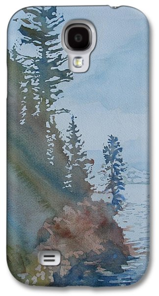 Waterscape Paintings Galaxy S4 Cases - At The Waters Edge Galaxy S4 Case by Jenny Armitage