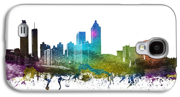 Skylines Drawings Galaxy S4 Cases - Atlanta Cityscape 01 Galaxy S4 Case by Aged Pixel