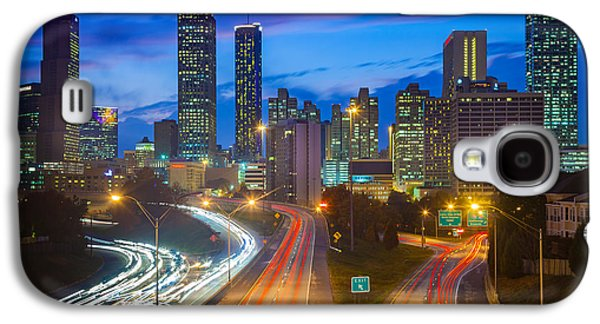 Atlanta Downtown By Night Galaxy S4 Case by Inge Johnsson