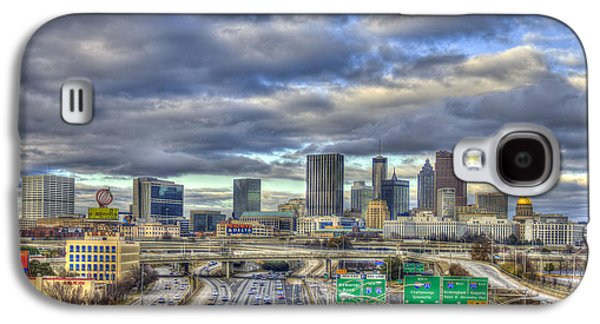Recently Sold -  - Transportation Photographs Galaxy S4 Cases - Atlanta South Looking North Skyline  Galaxy S4 Case by Reid Callaway
