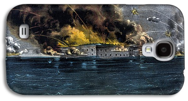 American History Galaxy S4 Cases - Attack On Fort Sumter Galaxy S4 Case by War Is Hell Store