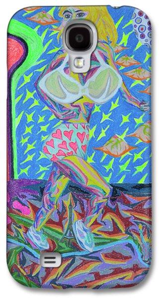 Science Fiction Pastels Galaxy S4 Cases - Attaque Des Bombes Sexuelles Galaxy S4 Case by Robert  SORENSEN