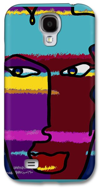 Abstract Digital Drawings Galaxy S4 Cases - Attraction  Copyright by Theo J Huckins 2015 TJH_1048a_001k Galaxy S4 Case by Theo J Huckins