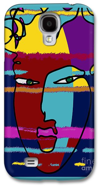 Abstract Digital Drawings Galaxy S4 Cases - Attraction Copyright Theo J Huckins 2015 TJH_1045i 001ej Galaxy S4 Case by Theo J Huckins