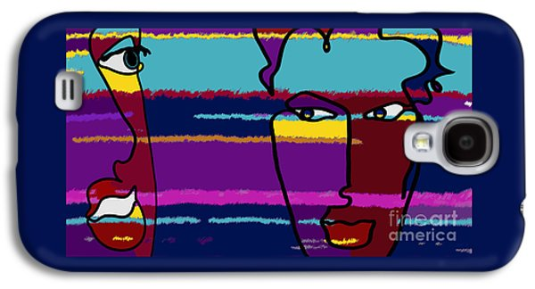 Abstract Digital Drawings Galaxy S4 Cases - Attraction  Copyright Theo J Huckins 2015 TJH_1101y_1048a_001k Galaxy S4 Case by Theo J Huckins