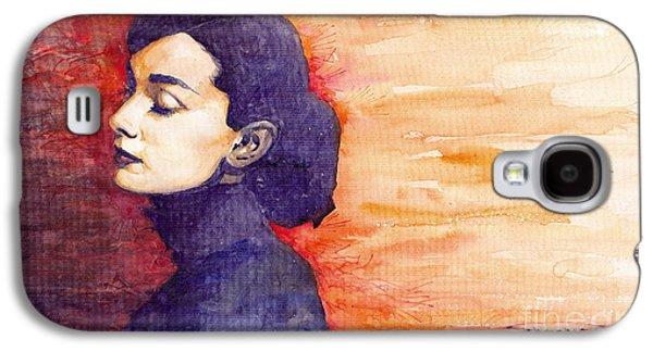 Audrey Hepburn 1 Galaxy S4 Case by Yuriy  Shevchuk