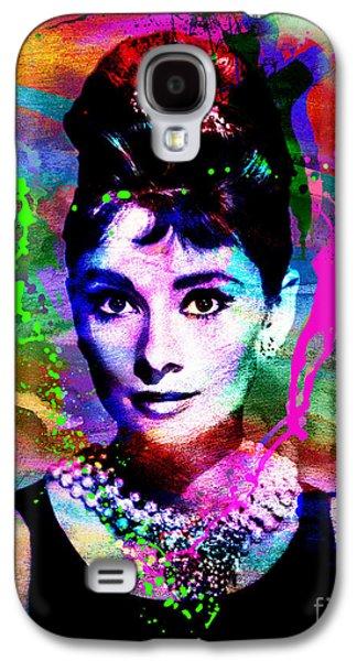 At Poster Mixed Media Galaxy S4 Cases - Audrey Hepburn Art Galaxy S4 Case by Ryan RockChromatic