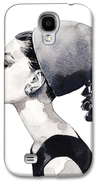 Audrey Hepburn For Vogue 1964 Couture Galaxy S4 Case by Laura Row