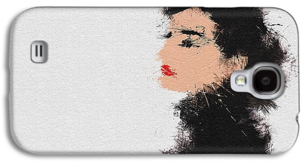 Character Portraits Paintings Galaxy S4 Cases - Audrey Hepburn Galaxy S4 Case by Miranda Sether