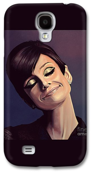 Audrey Hepburn Painting Galaxy S4 Case by Paul Meijering
