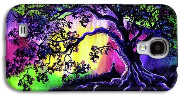 Aurora Borealis Tree Of Life Meditation Galaxy S4 Case by Laura Iverson