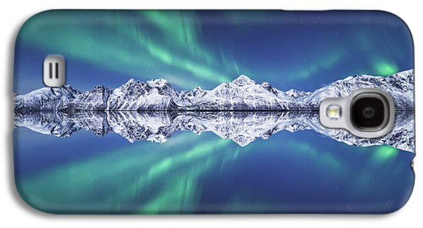 Norway Galaxy S4 Cases - Aurora Square Galaxy S4 Case by Tor-Ivar Naess