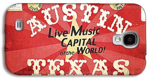 Mural Photographs Galaxy S4 Cases - Austin Live Music Galaxy S4 Case by Trish Mistric