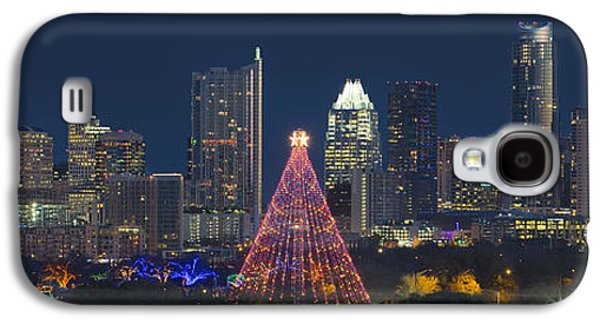 Austin Panorama Of The Trail Of Lights And Skyline Galaxy S4 Case by Rob Greebon