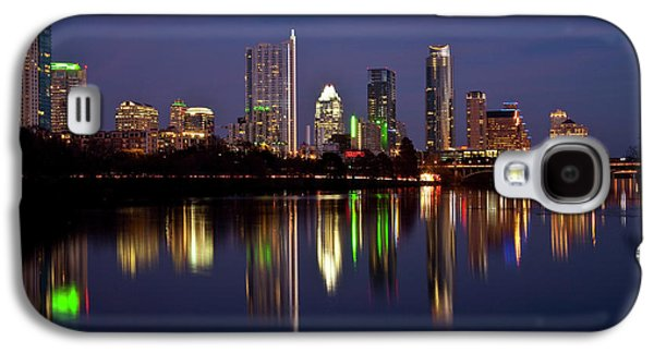 City Scape Galaxy S4 Cases - Austin Skyline Galaxy S4 Case by Mark Weaver