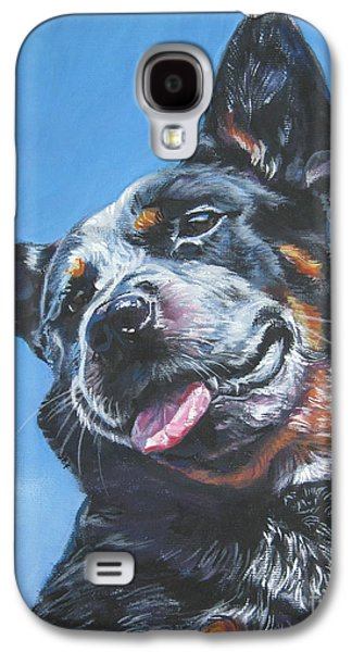 Cattle Dog Paintings Galaxy S4 Cases - Australian Cattle Dog 2 Galaxy S4 Case by Lee Ann Shepard